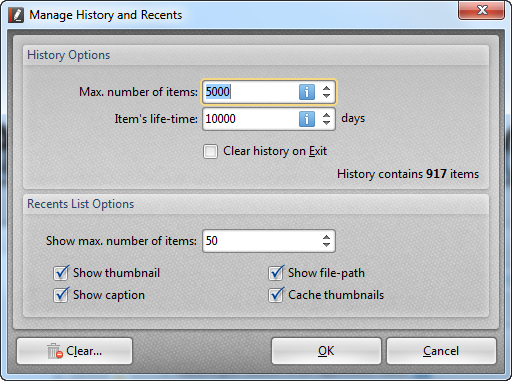 how to open recent notepad history