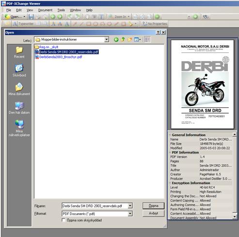 PDF-XChange VIEWER - översikt när man ska kolla och öppna filer = BRA!